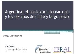 Tapa Presentación Vasconcelos / Fuente: IERAL de Fundación Mediterránea