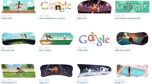 Google Doodle para las Olimpiadas de Londres 2012 / Foto: Captura de pantalla del sitio de Google.