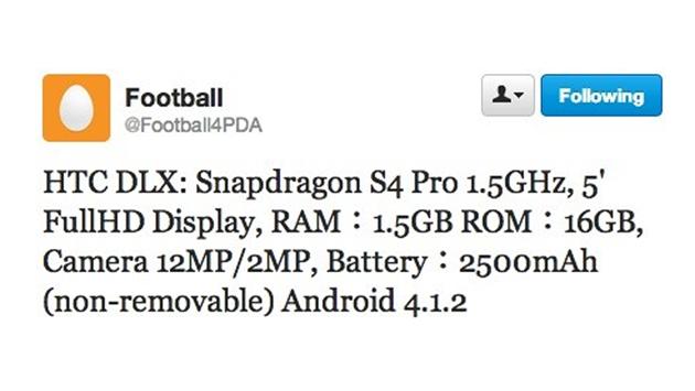 Tweet de @Football4PDA / Fuente: Captura de pantalla desde Twitter.