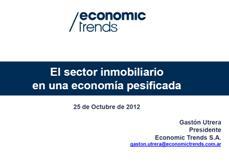El sector inmobiliario en una economía pesificada / Fuente: Economic Trends.