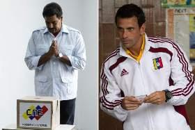Maduro y el opositor Capriles, que apuesta a la vía institucional | Foto: archivo Turello.com.ar