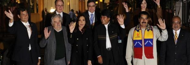 Solidaridad de presidentes latinoamericanos con Evo Morales / Foto: www.nacion.com
