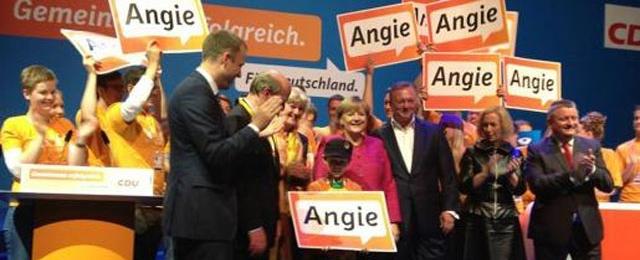 Angela Merkel festeja su tercer mandato con sus partidarios / Foto: www.cadena3.com