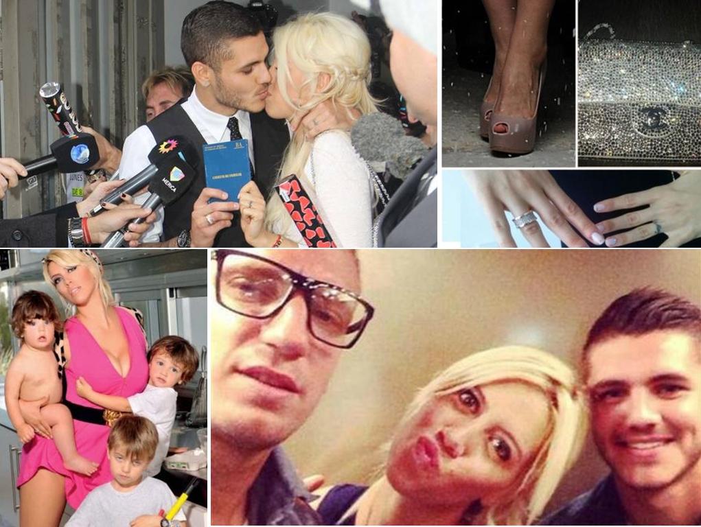 Wanda sin freno | Collage en base a imágenes de Clarín, Twitter, Vos, Blogspot.
