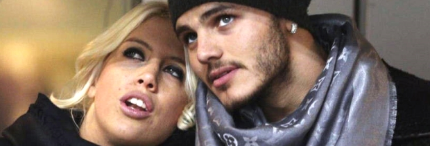 Wanda Nara, ex de Maxi López, y Mauro Icardi, una pareja que sigue ganando minutos de televisión / Crédito: www.clarin.com