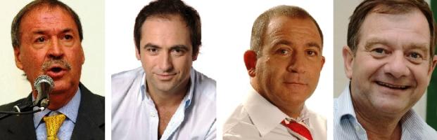 Schiaretti, Mestre, Juez y Felippa se imaginan como  sucesor de De la Sota en Córdoba | Collage: Turello.com.ar