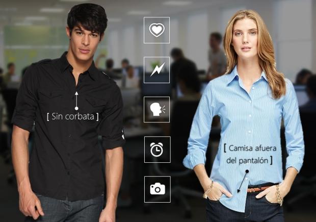 El look informal de los nuevos líderes casuales | Infografía: ed. digital en base a imágenes de Red Users, The Student Room y Brooks Brothers.