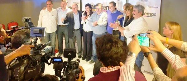 Laura Rodríguez Machado, Negri y Mestre, en el festejo cordobés de Cambiemos | Foto: twitter @ramonjmestre