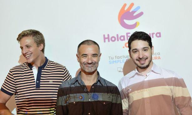 Los fundadadores de HolaFactura.com: Matías Facundo Bravo, Carlos Ruda y Matías Pons.