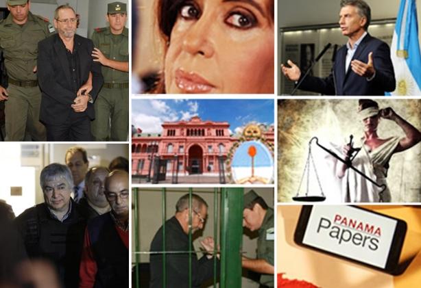 Collage armado en bases a fotos de La Nación e imágenes publicadas en Jorge Asís Digital.