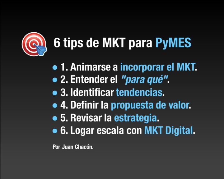 6 tips de Marketing para las Pymes.