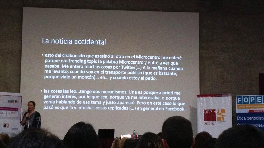 La noticia accidental explicada por Eugenia Mitchelstein en el Congreso de Periodismo Digital de FOPEA