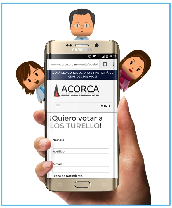 Los Turello nominados en los Premios ACORCA 2016.