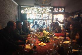 Bosisio y Fernández encabezaron la mesa que compartieron con la prensa local | Foto: Trinidad Molina.