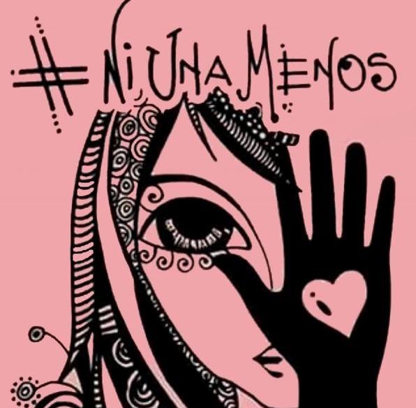 El afiche de #NiUnaMenos que se viralizó en las redes.