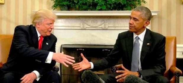 El gesto de Obama lo dice todo: los demócratas aún no asimilaron el triunfo de Trump | Foto: elmundo.com