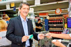 Víctor Penida, gerente general del Banco de Córdoba, en el lanzamiento de Cash Plus | Foto: Prensa Bancor.