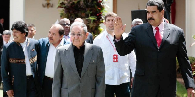 Morales, Ortega, Castro y Maduro, los actores principales de la cumbre del ALBA | Foto: diario El Tiempo