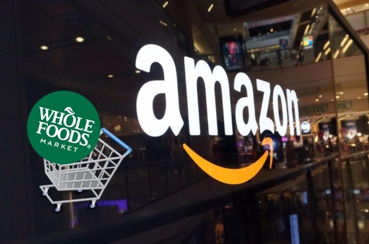 El lider mundial del ecommerce, Amazon, compró a la cadena de supermercados Whole Foods | Ilustración: en base a imágenes de Sunoticiero.com, Fast Icon Design (fasticon.com) e instacart.com
