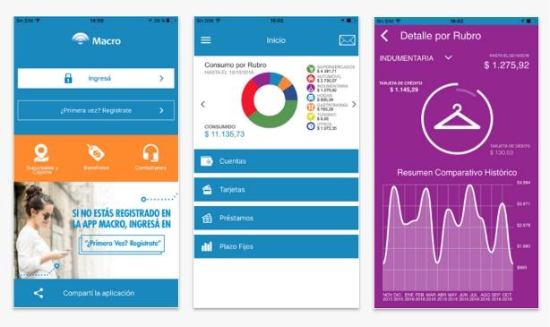 Capturas de pantalla de la app de Macro | Imágenes: Google Play.