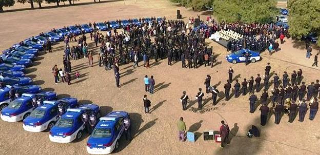 Los 450 patrulleros para combatir la inseguridad fueron mostrados en el Parque Sarmiento | Foto: prensa.cba.gov.ar