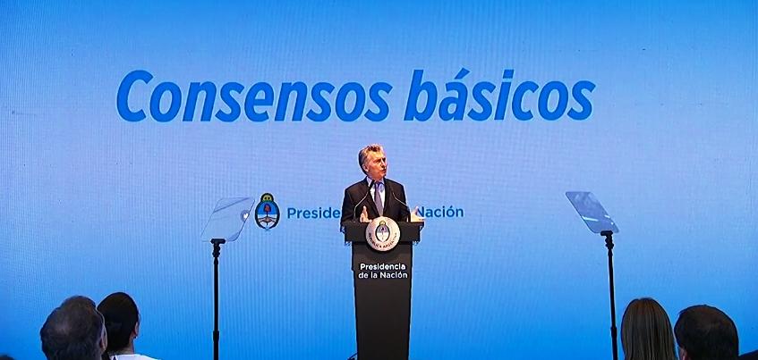 Mauricio Macri presentando el plan de reformas en el CCK | Foto: captura de pantalla de Youtube.