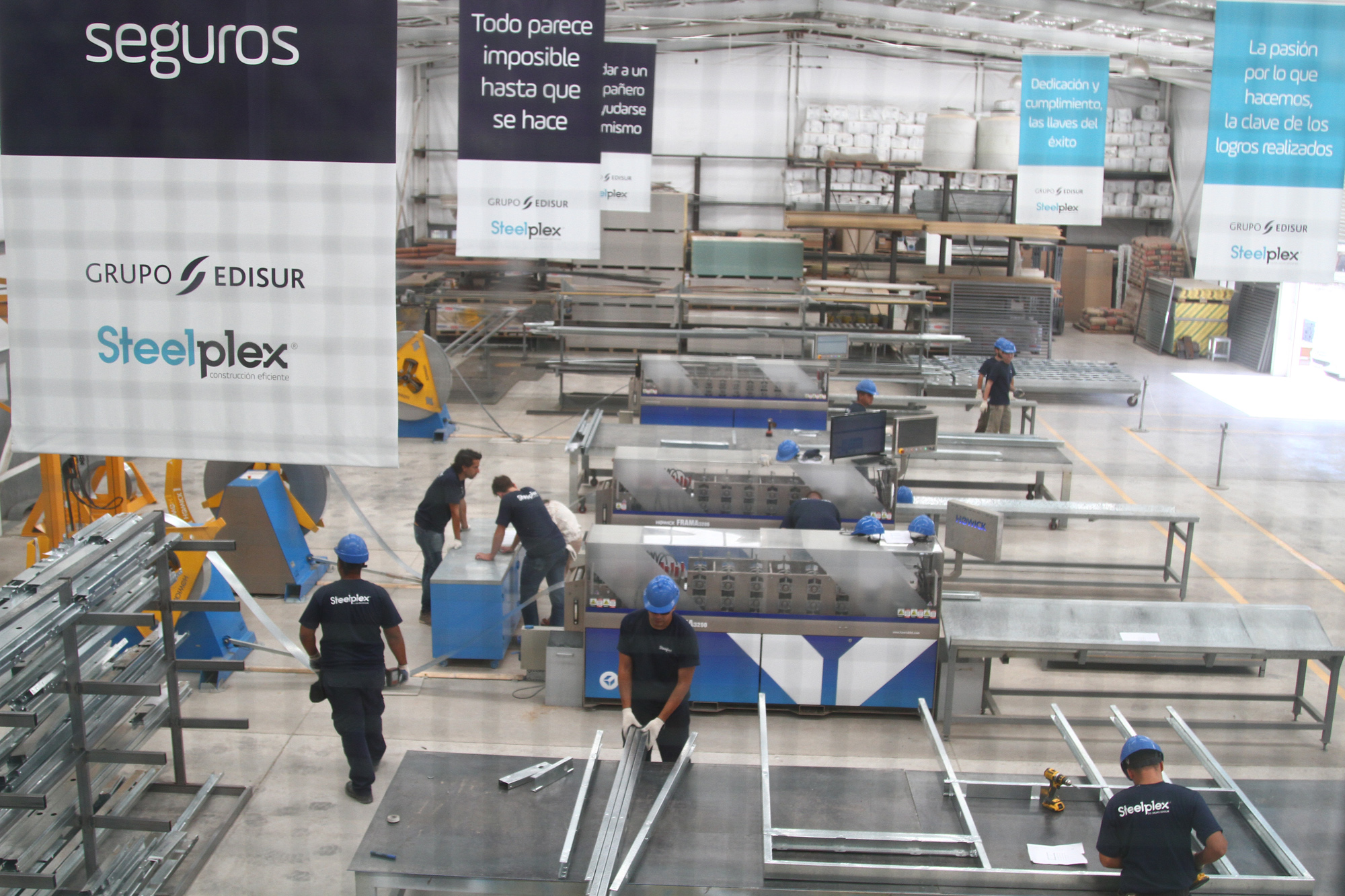 Vista aérea de la fábrica Steelplex | Foto: Grupo Edisur.