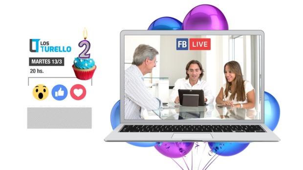 Facebook Live de la buena suerte y aniversario Los Turello
