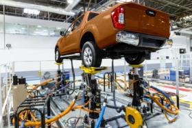 La pick up Nissan Frontier sorteó las pruebas de calidad y de robotización en Santa Isabel | Foto Prensa Nissan.