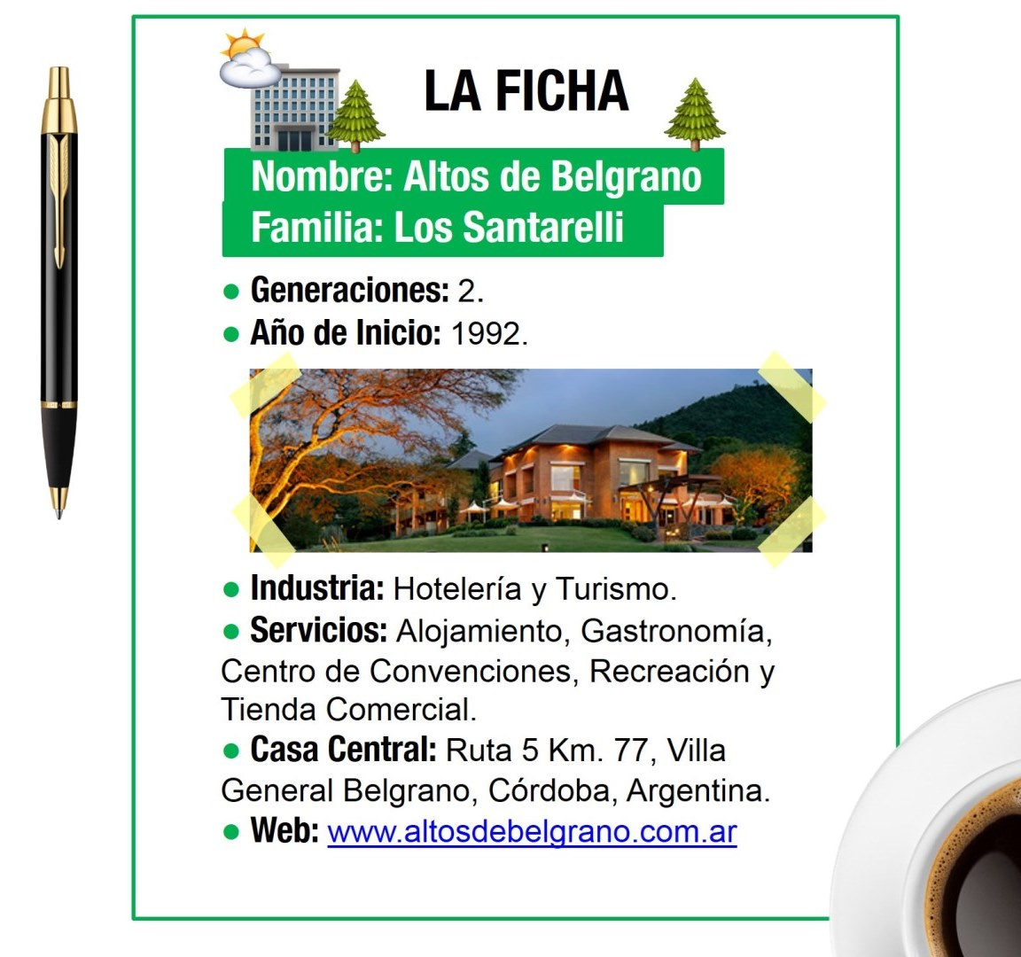 La Ficha de Altos de Belgrano.