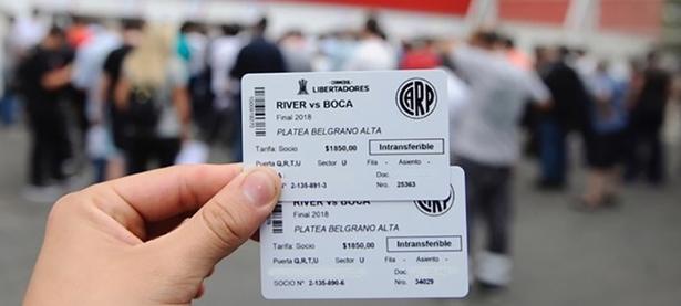 Así son las entradas para la final de la Libertadores 2018 | Foto: Marca Claro Argentina.