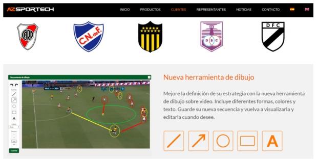Servicios analíticos de Video para Clubes | Imágenes: capturas de AZSportech.com