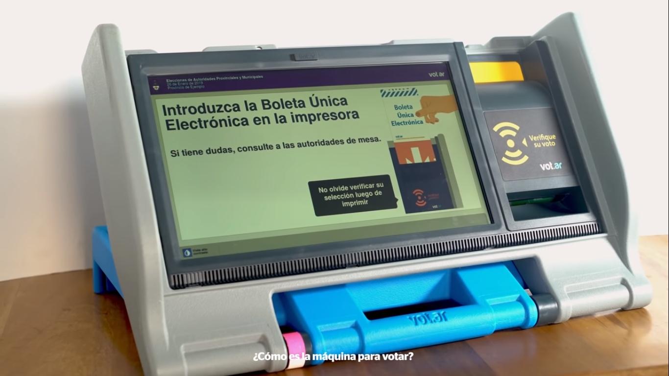 Software y voto electrónico en las elecciones 2019 de Córdoba | Imagen: captura de Youtube (Justicia Córdoba).