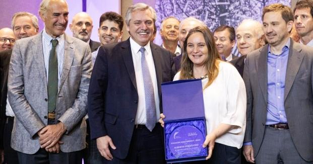 Fernández con empresarios
