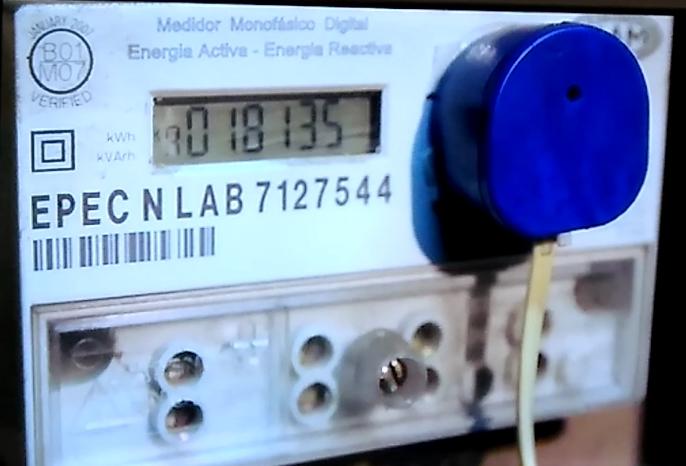 Medidor con dispositivo óptico para la telemedición | Foto: Turello.com.ar