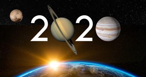 2020 estará signado por la triple conjunción y los seis eclipses Ilustración: Los Turello en base a imágenes de Pixabay [012], Stickpng.com, CADD Community, Clipartkey [Irene Haverkate, Missy Nagi], NASA.