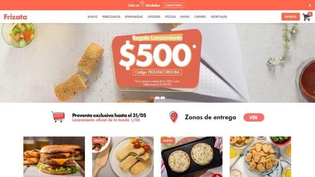 Web de Frizata | Imagen: captura de pantalla.