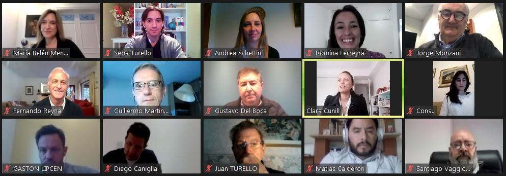 Algunos participantes de la charla virtual entre la Fundación Córdoba Mejora y periodistas.