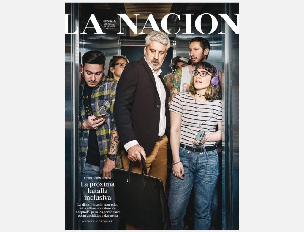 Revolución senior. La discriminación por edad reflejada en una tapa de la revista La Nación.