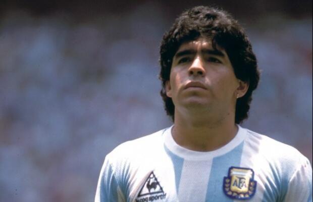 Maradona en el Mundial del '86 | Imagen publicada por Joaquin Priotti en Pinterest.