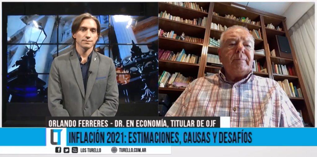 Sebastián Turello entrevista a Orlando Ferreres sobre las estimaciones de inflación 2021 en Argentina.